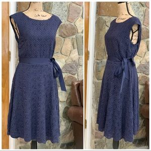 🔆Alex Marie lace overlay belted dress size 14